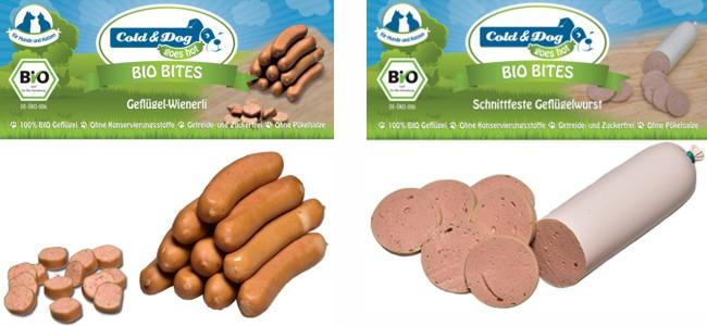 Cold Dog Bio Bites Würste für Hunde und Katzen