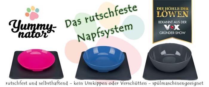 Yummynator - rutschfestes Napfsystem für Hunde & Katzen